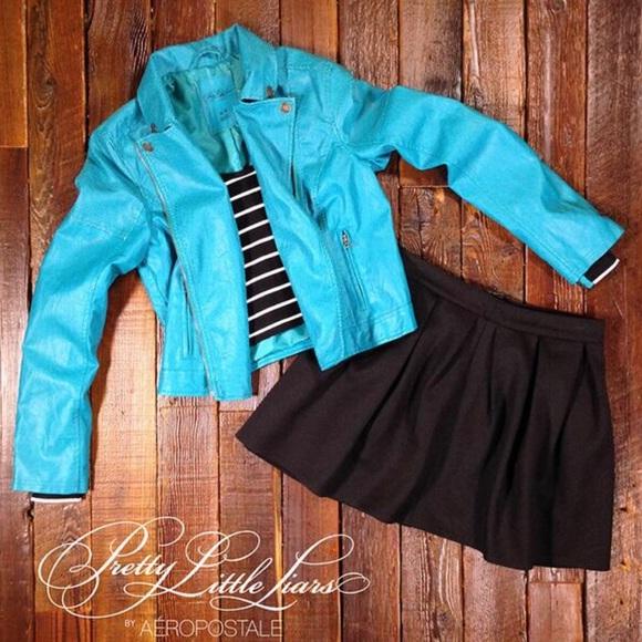 Aeropostale Jackets Coats Pretty Little Liars X Aria Teal Jacket Poshmark